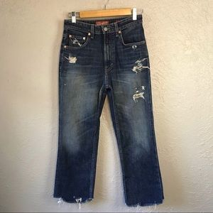 Lucky Brand Lucky Pins Distressed Denim Jeans 2/26
